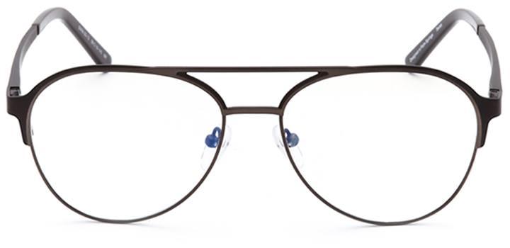 milford haven: men's aviator eyeglasses in brown - front view