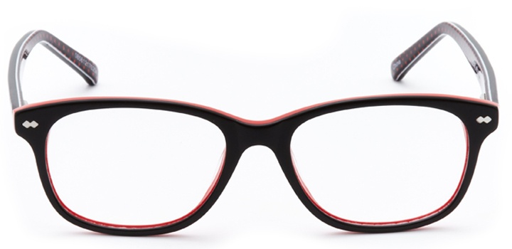 so classic: girls's rectangle eyeglasses in black - front view