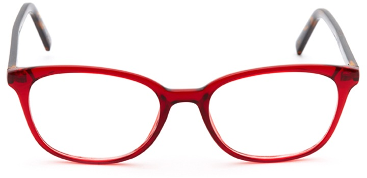eiffel tower: women's oval eyeglasses in red - front view