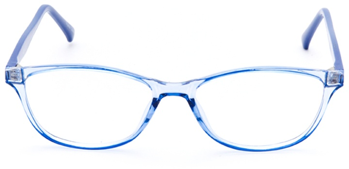 louvre: women's oval eyeglasses in blue - front view