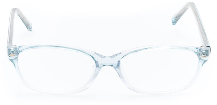 versailles: women's oval eyeglasses in blue - front view