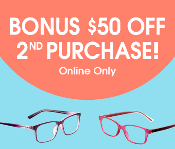 Bonus $50 off 2nd purchase! Online only
