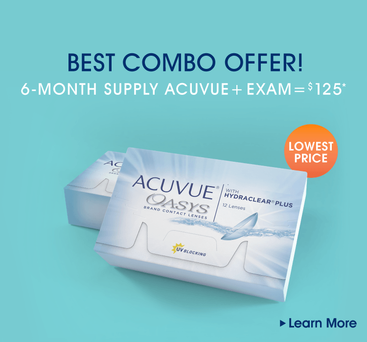 Best combo offer! 6-month supply acute + exam = $125*